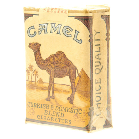 Original U.S. WWII Camel 20's Pack of Cigarettes - Unopened in Wrapper Original Items