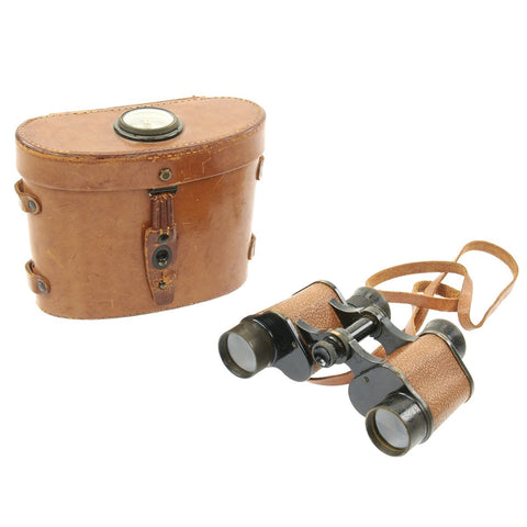 Original WWII U.S. Signal Corps Named Army Officer's 8X30 Binoculars by Bausch & Lomb with Compass Case Original Items
