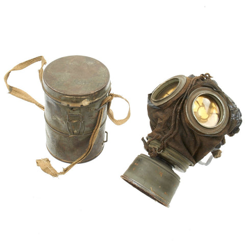 Original Imperial German WWI 1911 Gas Mask with Can Original Items