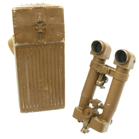 Original Japanese WWII 8x62 Trench Periscope Binoculars with Matched Steel Transport Case Original Items