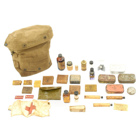 Original U.S. WWII Army Medical Kit with Named Pouch Original Items