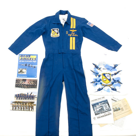 Original U.S. Blue Angles Navy Flight Demonstration Squadron Leader Grouping - Lcdr Cliff Skelton Original Items