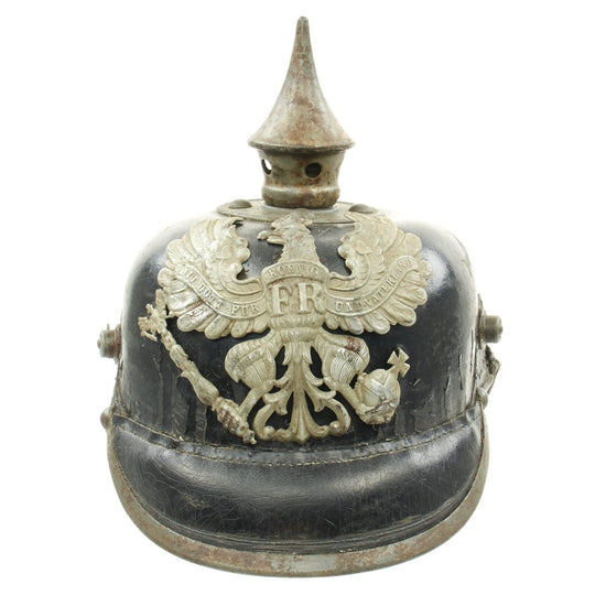 Original German WWI Prussian M1915 Line Infantry EM/NCO Pickelhaube Spiked Helmet