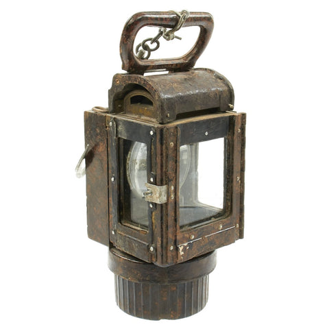 Original German WWII Bakelite Military Issue Carbide Trench Lantern - Waffenamt (WaA) Marked Marked