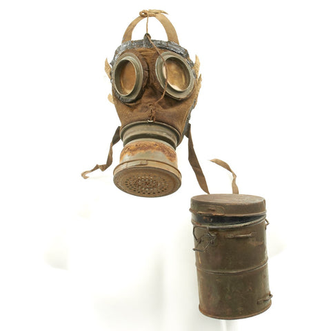 Original Imperial German WWI Gas Mask with Can Original Items