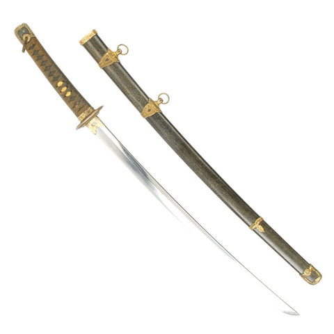 Original WWII Japanese Navy Officer P1937 Kai-Gunto Katana Sword with Scabbard - Handmade Ancient Blade