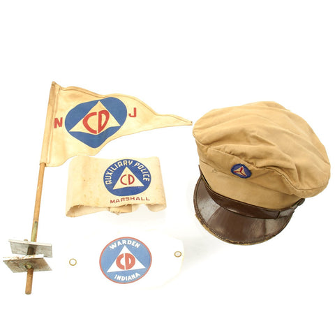 Original U.S. WWII Civil Defense Grouping Original Items