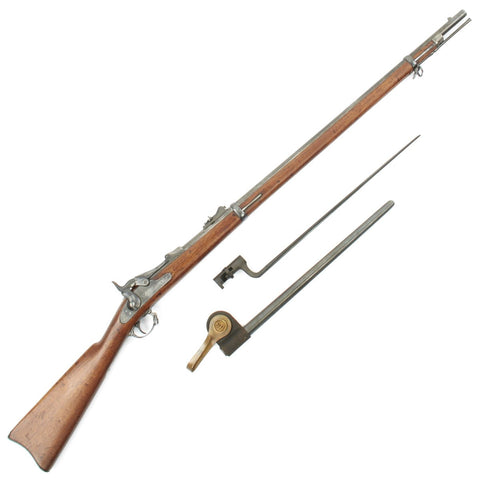 Original U.S. Springfield Trapdoor Model 1873 Rifle made in 1884 with Bayonet and U.S. Scabbard - Serial 236104