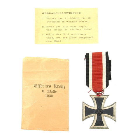 Original German WWII Wehrmacht 2nd Class Iron Cross with Paper Packet Original Items