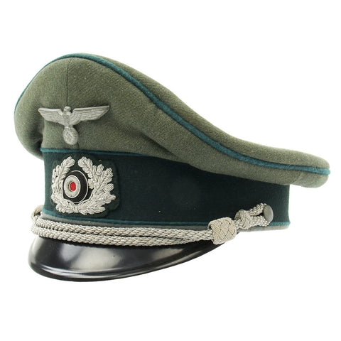 Original German WWII Gebirgsjäger Mountain Troop Officer Visor Cap by EREL (Double Marked) Original Items