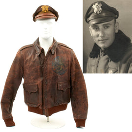 Original U.S. WWII 303rd Bomb Group Hell's Angles Identified A-2 Flight Jacket Grouping