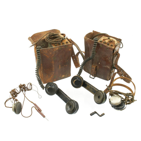 Original U.S. WWI Western Electric Field Telephone Lineman Set Patented August 18 1903 Original Items