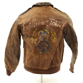 Original U.S. WWII B-17 Bomber Tantalizing Takeoff A-2 Flight Jacket