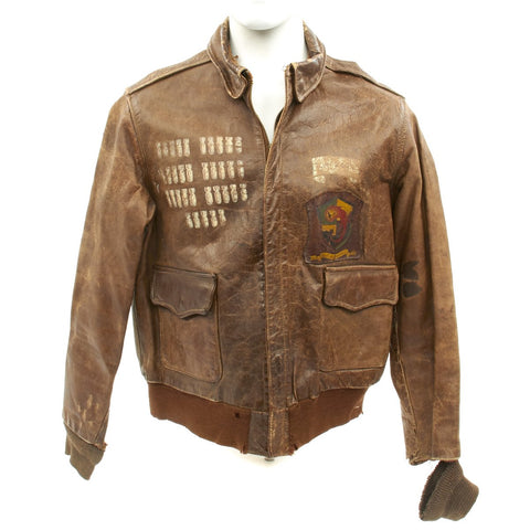 Original U.S. WWII 457th Bombardment Group Painted A-2 Flight Jacket Original Items
