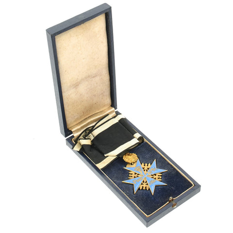 German WWI Prussian Blue Max Medal with Case - High Quality Forgery Original Items