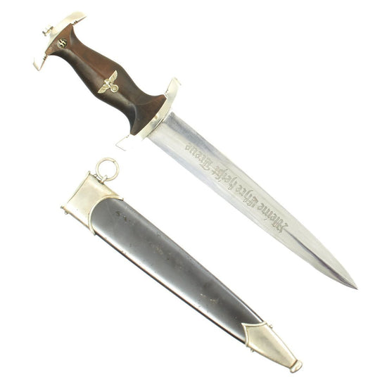 Original German WWII Model 1933 Early SS Dagger by Rare Maker - Eduard Gembruch of Solingen