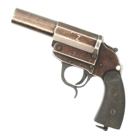 Original German WWII Rare Kampfpistole Z Model LP 34 Signal Flare Pistol by Walther - Dated 1941