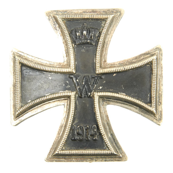 Original German WWI Prussian Vaulted Iron Cross First Class 1914 with Back  Clip