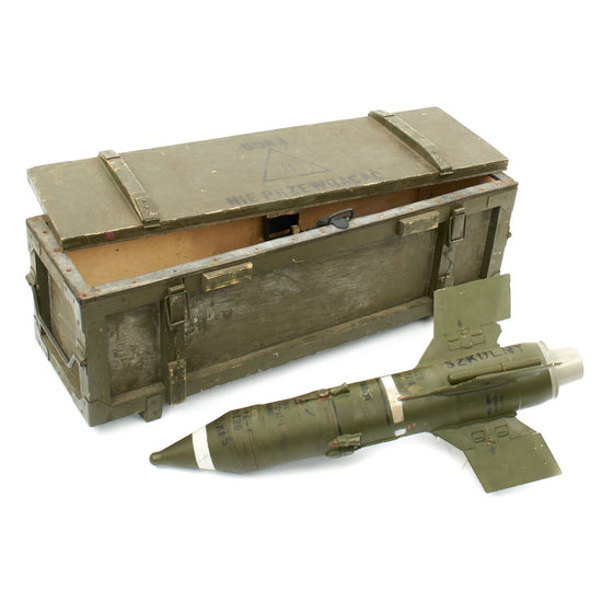 Original Soviet Russian Cold War 9M14 Malyutka / AT-3 Sagger Trainer Missile in Transit Chest - Inert