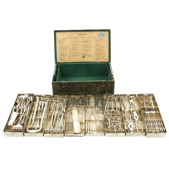 Original German WWII Hauptbesteck 1939 Large Medical Surgical Tool Set by AESCULAP - dated 1941