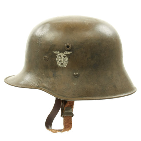 Original German WWII M17 Norwegian Volunteer Helmet Original Items