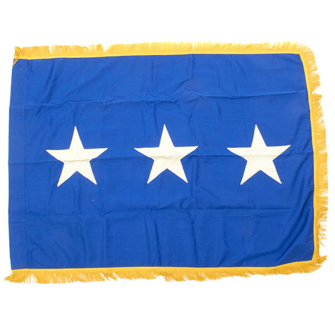 "Original U.S. Vietnam War Era USAF Lieutenant General Flag - 50"" x 35"" Original Items"