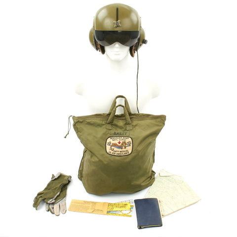 Original U.S. Vietnam War 24th Medical Company Air Ambulance Helicopter Named Gentex SPH-4 Helmet Original Items