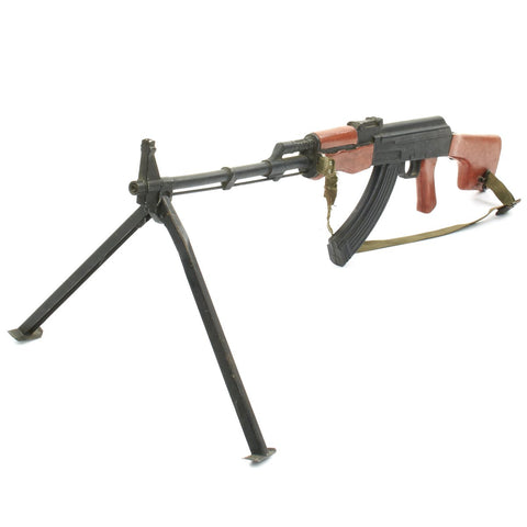 "Original U.S. Vietnam War RPK Hard ""Rubber Duck"" Training Rifle with Sling and Bipod Original Items"