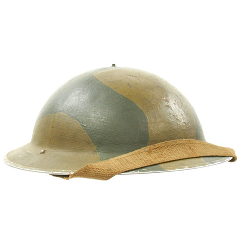 Original British WWII Brodie Mk1 Camouflage Helmet - Dated 1938