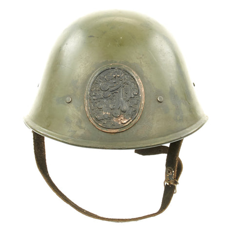 Original Dutch WWII Model 1934 Helmet with Helmet Plate - Very Good Condition New Made Items