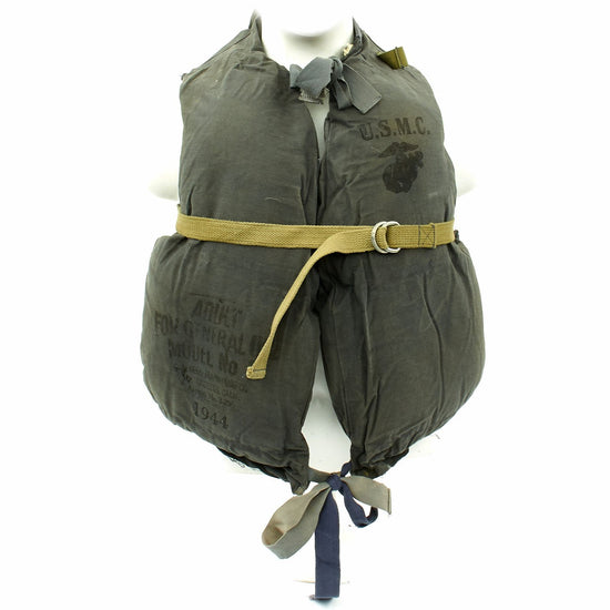 Original U.S. WWII USMC Model No.2 Kapok-Style Life Preserver Vest by C. A. Reed - dated 1944
