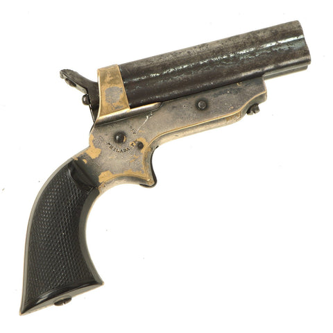 Original U.S. 19th Century Sharps Model 2A .30 Rimfire 4 Barrel Brass Frame Pepperbox Pistol - Serial 1771 Original Items