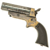 show larger image of product view 2 : Original U.S. 19th Century Sharps Model 2A .30 Rimfire 4 Barrel Brass Frame Pepperbox Pistol - Serial 1771 Original Items