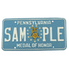 show larger image of product view 1 : Original U.S. Army Congressional Medal of Honor State of Pennsylvania Sample License Plate Original Items