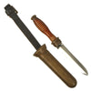 show larger image of product view 1 : Original WWII U.S. Navy MK 5 Deep Sea Dive Knife with Brass Scabbard & Securing Strap Original Items