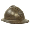 show larger image of product view 2 : Original Belgian WWII Model 1926 Adrian Infantry Helmet with Lion Badge & Complete Liner Original Items