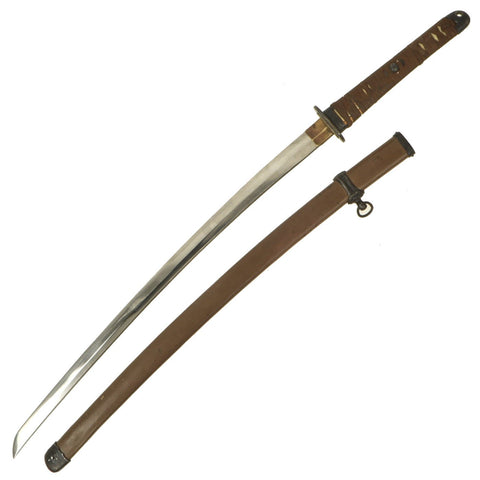 Original WWII Japanese Army Officer P-1944 Rinji Seikishi Shin-Gunto Katana Sword by NOBUMITSU - Dated 1945 Original Items
