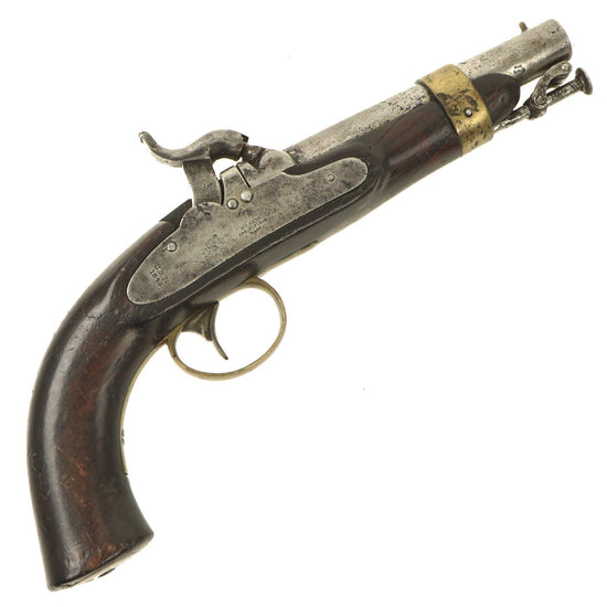 Original U.S. Model 1842 Internal Hammer Naval Percussion Pistol by N.P. Ames - dated 1843 Original Items