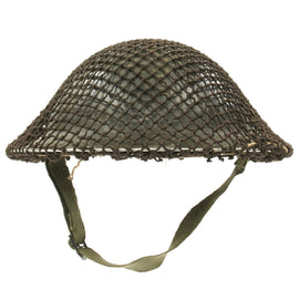 Original Canadian WWII Brodie MkII Steel Helmet by Canadian Motor Lamp Co. with Helmet Net - Dated 1942