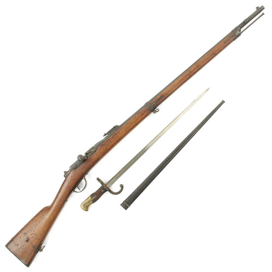 Original French MLE 1866-74 Gras Converted Rifle by St. Étienne with M1874 Gras Bayonet - Dated 1869
