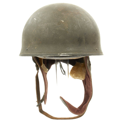 Original WWII Canadian MkI Dispatch Rider Helmet by Canadian Motor Lamp Co. dated 1944 - Size 7 Original Items