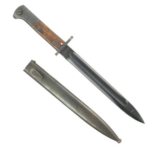 Original Pre-WWII Polish M1930 Mauser Bayonet by RADOM with German Scabbard dated 1940 Original Items