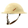 show larger image of product view 1 : Original U.S. WWI M1917 Doughboy Winter Snow Camouflage Helmet With Textured Paint Original Items