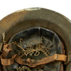 show larger image of product view 12 : Original U.S. WWI M1917 Doughboy Winter Snow Camouflage Helmet With Textured Paint Original Items