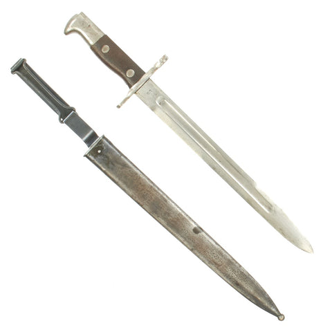 Original U.S. Pre-WWI M1892 Bayonet and Scabbard for Springfield Krag-Jørgensen Rifles - dated 1899 Original Items
