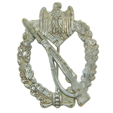 Original German WWII Infantry Assault Badge Silver Grade - Maker Marked 4 Original Items