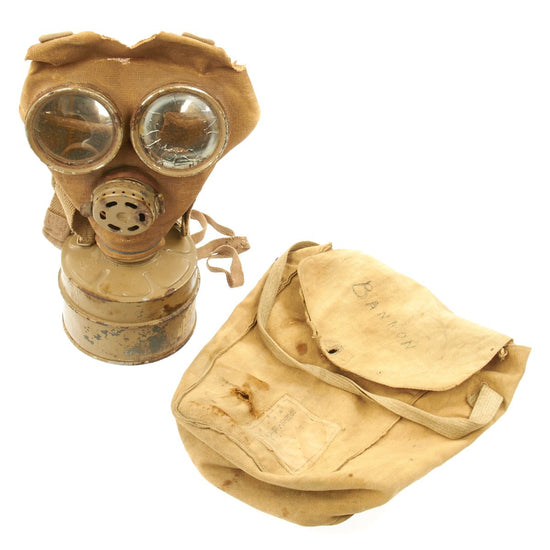 Original Japanese WWII Civil Defense Gas Mask with Bag
