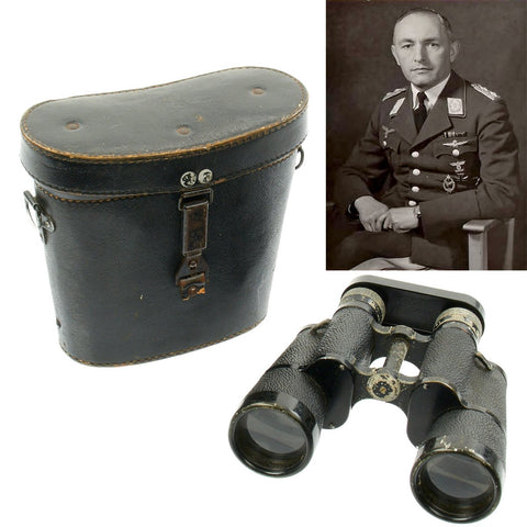 Original German WWII General der Flieger Hans Siburg 7x50 Dienstglas Binoculars with 1939 Dated Case Original Items