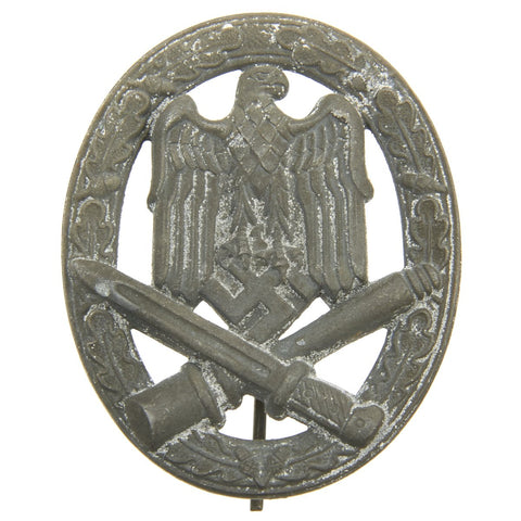 Original German WWII General Assault Badge in Silver Grade by Rudolf Suval Original Items