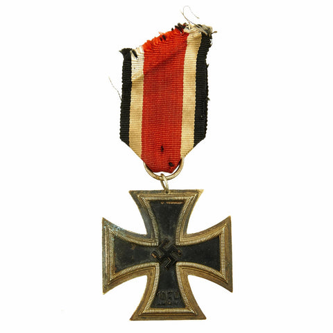 Original German WWII Iron Cross 2nd Class 1939 by Friedrich Orth of Vienna with Ribbon - EKII Original Items